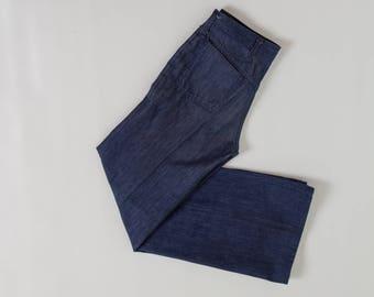 vintage 70s bell bottom denim jeans