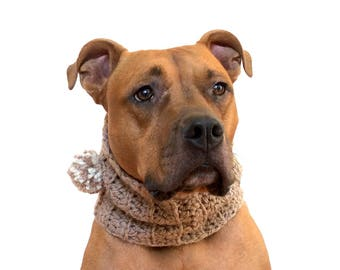 Crochet Cowl for Dogs, Crocheted Dog Scarf, Winter Dog Clothes
