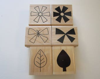 6 rubber stamps - SHAPES and SHADOWS two step stampin' - Stampin Up