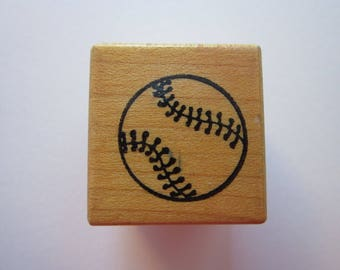 vintage rubber stamp - BASEBALL stamp - PSX A-101 - used rubber stamp