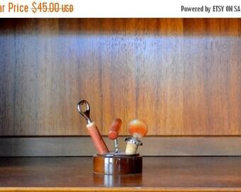 CIJ SALE 25% OFF vintage mid-century bar tool set