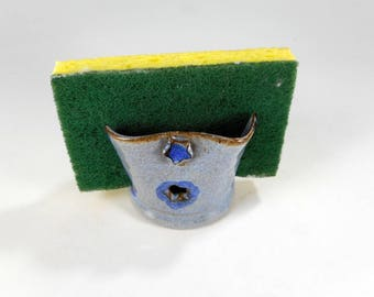 Ceramic sponge holder, pottery sponge keeper, stoneware sponge dish, kitchen sponge holder, pottery sponge holder, sponge caddy