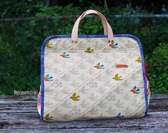 Rainbow Doves Flying Colors Maker's Tote | Project Bag | Travel Bag | Overnight Bag | Purse | Handbag