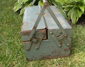 Vintage Cantilever DWC Metal Tool Box Carrier