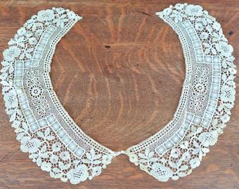 Antique Lace Collar, Exquisite Lace, Victorian Lace Collar