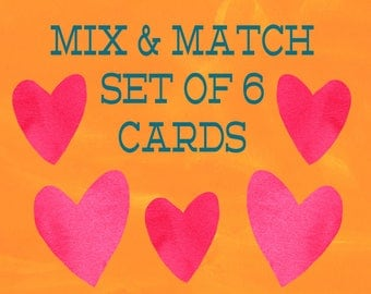 Mix and Match Set of 6 Cards