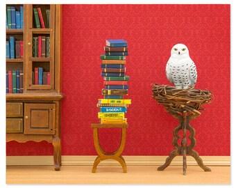 Harry Potter inspired Hedwig owl animal art print: Spellbound