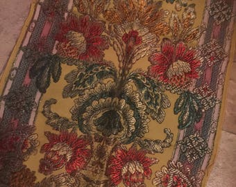 Vintage Chinese /Asian Tapestry silk panel /runner