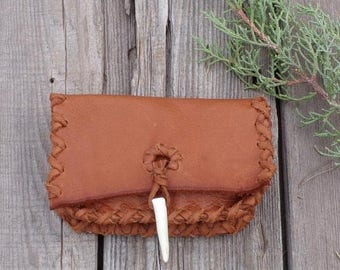 ON SALE Small leather clutch , Soft leather wallet , Leather card case , Ready to ship