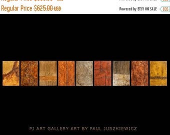 "17% OFF /ONE WEEK Only/ 15 Percent Off //One Week Sale/ Huge Set on Wood abstract by Paul Juszkieiwcz over 110""x16"" texture"