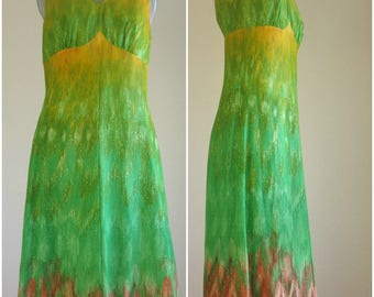 Elvi Couture Gradient 70s vintage maxi dress impressionist