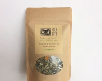 Folk City Apothecary Self-Care Herbal Tea Blend: Transition & Transformation
