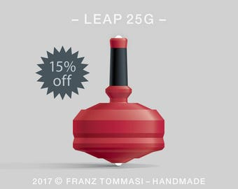 LEAP 25G Red – Spin Top with dual ceramic tip and rubber grip