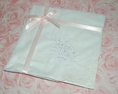 2 Embroidered Brooks Brothers Ladies Handkerchiefs with Box