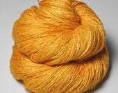 Melting tangerine sorbet OOAK  - Tussah Silk Lace Yarn - Hand Dyed Yarn - handgefärbte Wolle - DyeForYarn