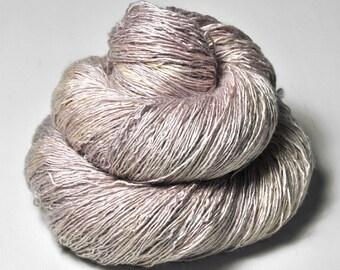 Blueberry vanilla ice cream  - Tussah Silk  Lace Yarn