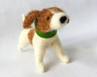 Needle Felted Jack Russell Terrier Dog