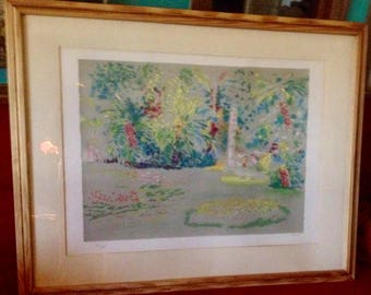 Frits Klein lithograph of Javanese landscape Fred Klein art print individually signed and numbered