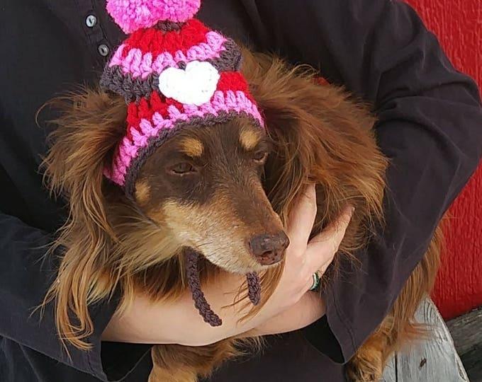 Valentines Day Pet Hat,Custom Made,Valentines Day Dog Hat,Heart Hat,Valentines Day Cat Hat,Valentines Day Goat Hat,Valentines Day Sheep Hat