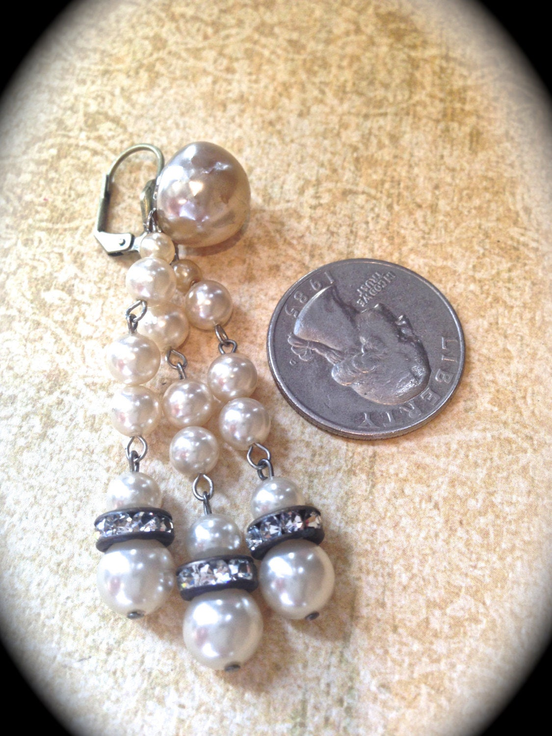 Pearl Chandelier Tassel Earrings Vintage Dangle Earrings