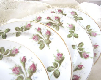 Vintage China Dessert/Salad Plates Set of Four from AllieEtCie