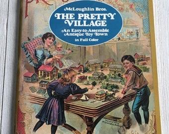 The New Pretty Village Vintage Antique Paper Houses