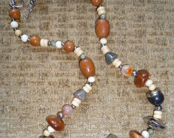 Clearance Sale SALE - Necklaces 27 inch and 26 inch Vintage Large Boho Beads