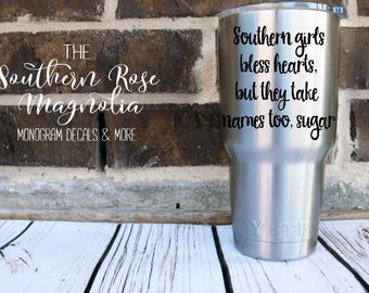Southern Girls, Bless your Heart, Yeti Decals for her, Tumbler Decals, Funny Decals, Macbook Decals, Southern Decals, Gifts for her, Decals