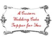 Custom Weasel Wedding Cake Topper