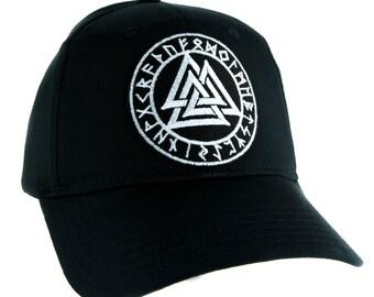 Valknut Odin Viking Symbol Hat Baseball Cap Alternative Clothing Old Norse Mythology - YDS-EMPA-043-CAP