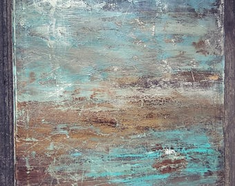24 x 36 Modern Minimalist Texture Abstract Painting