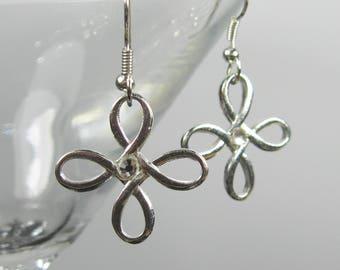 Silver surgical steel earrings, nickel free jewelry, bridesmaids gift, earrings dangle, simple silver casual earrings, ladies gift
