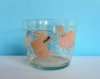 Vintage Pink Elephants Ice Bucket - Mid Century Barware - Seeing Pink Elephants