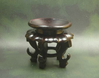 Rose Wood Stand/ Carved Rose Wood Stand For Ostrich Egg Art/ Wood Stand
