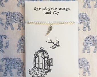 Spread your wings and fly - friendship bracelet