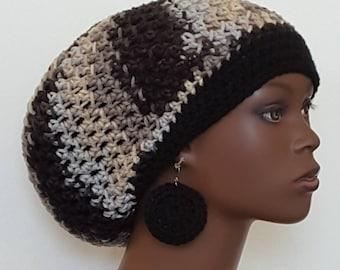 Rockies Crochet Beret Tam Cap Hat with Earrings Razonda Lee Razondalee