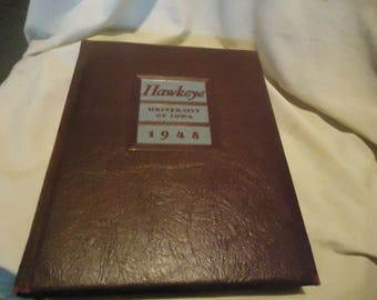 Vintage 1948 Hawkeye University Of Iowa Yearbook or Annual, collectable