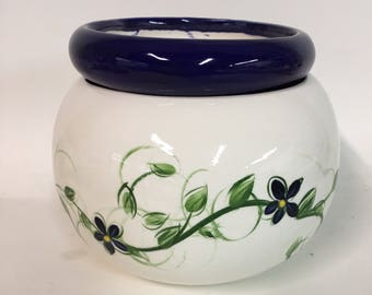 African Violet Pot 4 inch navy blue