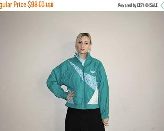 On SALE 45% Off - 1990s Vintage Reebok New Wave Abstract Graphic Windbreaker Jacket - 90s Clothing - WV0272