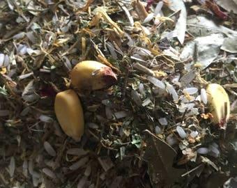 Lammas Lughnasadh Herbal Blend Sabbat Wicca Pagan Spirituality Religion Ceremonies Hoodoo Metaphysical MaidenMotherCrone