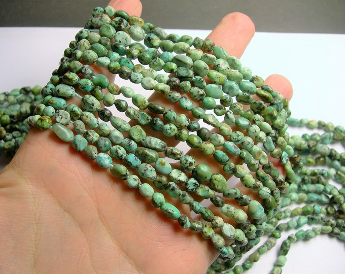 African turquoise - Nugget - bead - full strand - 6mm -  african turquoise gemstone - PSC99