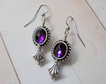 Amethyst and Silver Earrings (3964)