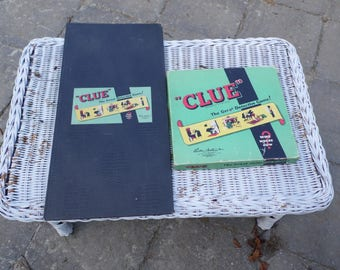 CLUE vintage 1949 Parker Brothers Detective board game COMPLETE and ready to play Miss Scarlet did it in the kitchen with the knife!