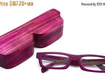 20% off SUMMER SALE love-wood  purple wood  Custom Prescription Sunglasses Galsses