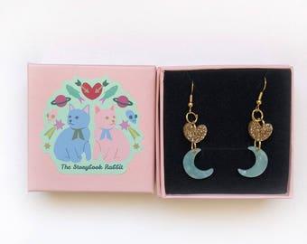 Hook Dangles - Hearts and Mint Moons