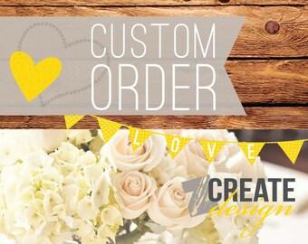 Custom listing for cgutierrez77 - Shipping Invoice