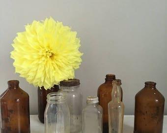 Summer Sale Vintage apothecary bottles, vintage glass bottles, antique glass vases
