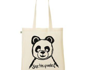 Tote Bag save the pandas organic fair