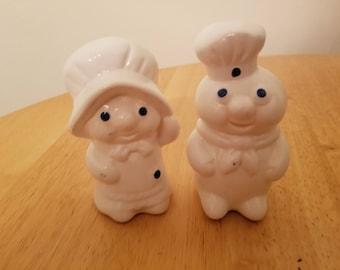 Vintage Pair of Pillsbury Doughboys Salt and Pepper Shakers