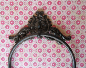 Cast Iron Towel Ring for your Bathroom Kitchen French Farmhouse Regency Style Cottage Decorative Cast Iron  H-11